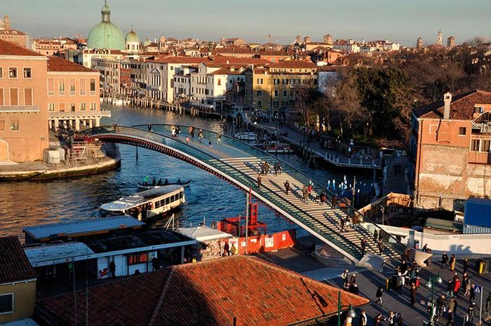 Calatrava Bridge Venice Train STation