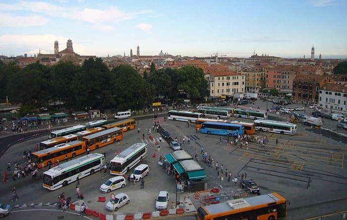 Bus Stop Cars Venice