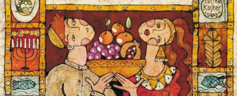 Attrazioni Venezia: proposte kosher in un'illustrazione di Marcella Brancaforte