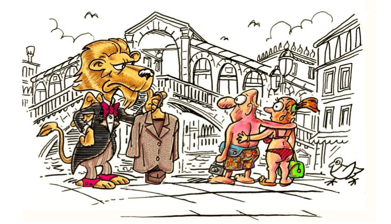 how to dress Venice
