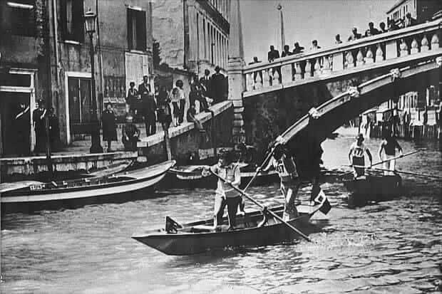 Prima Vogalonga di Venezia, nel 1975