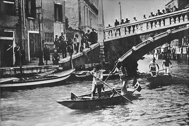 The first Vogalonga of Venice in 1975