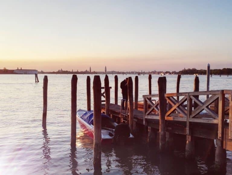 Ile du lido: ponton de départ des ferrys