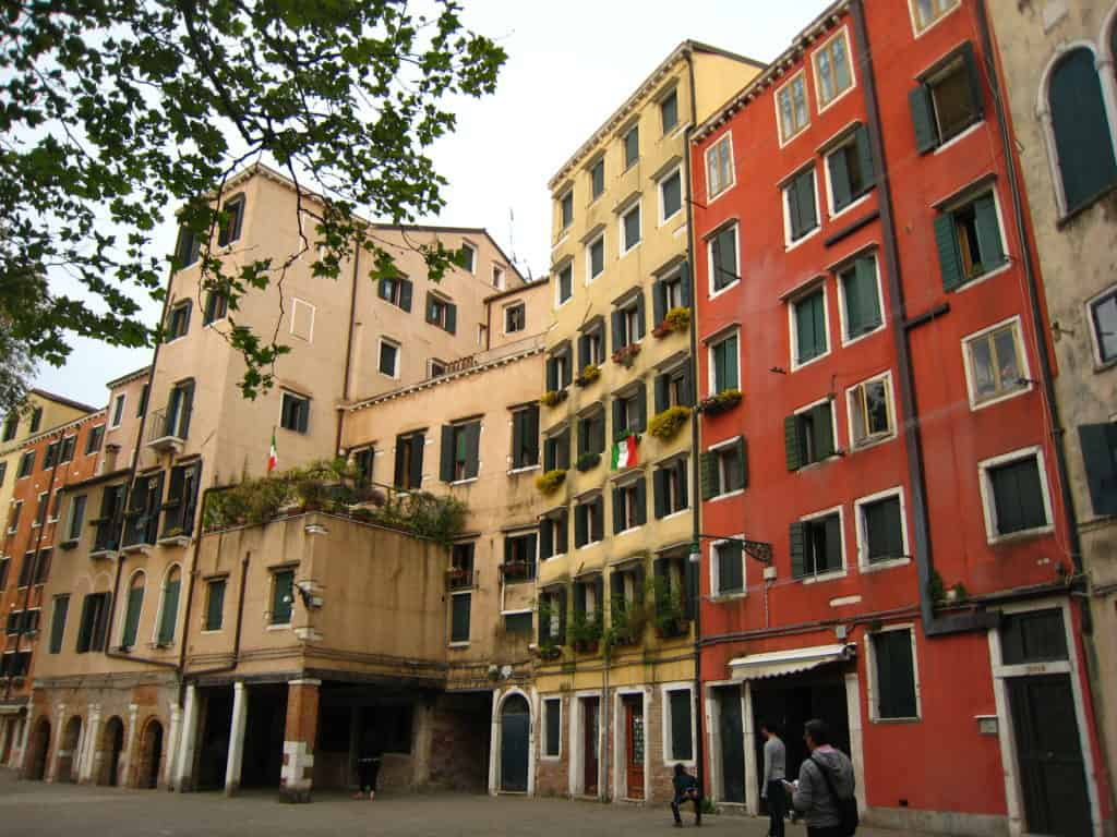 Venice Ghetto: its peculiar buoldings