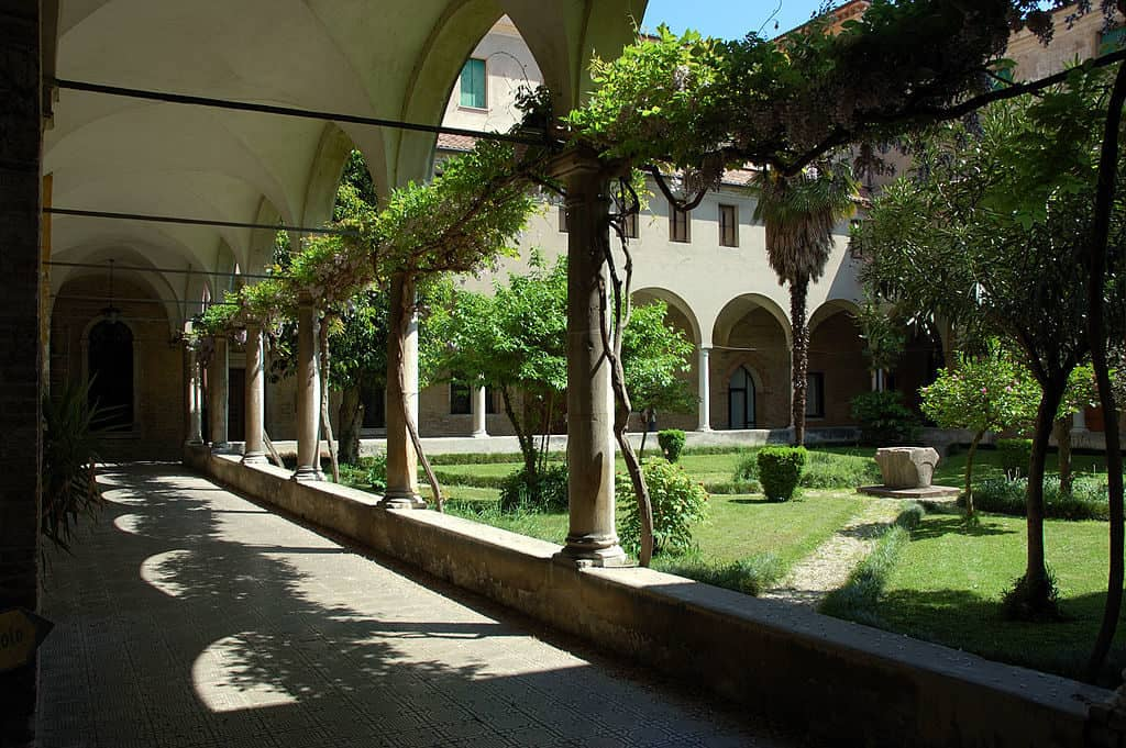 A view of a cloister in the Episcopal seminary of Treviso