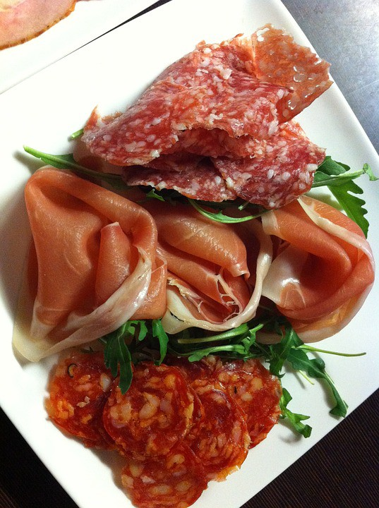 Tapas Starter Delicious Ham Food Salami Chunks