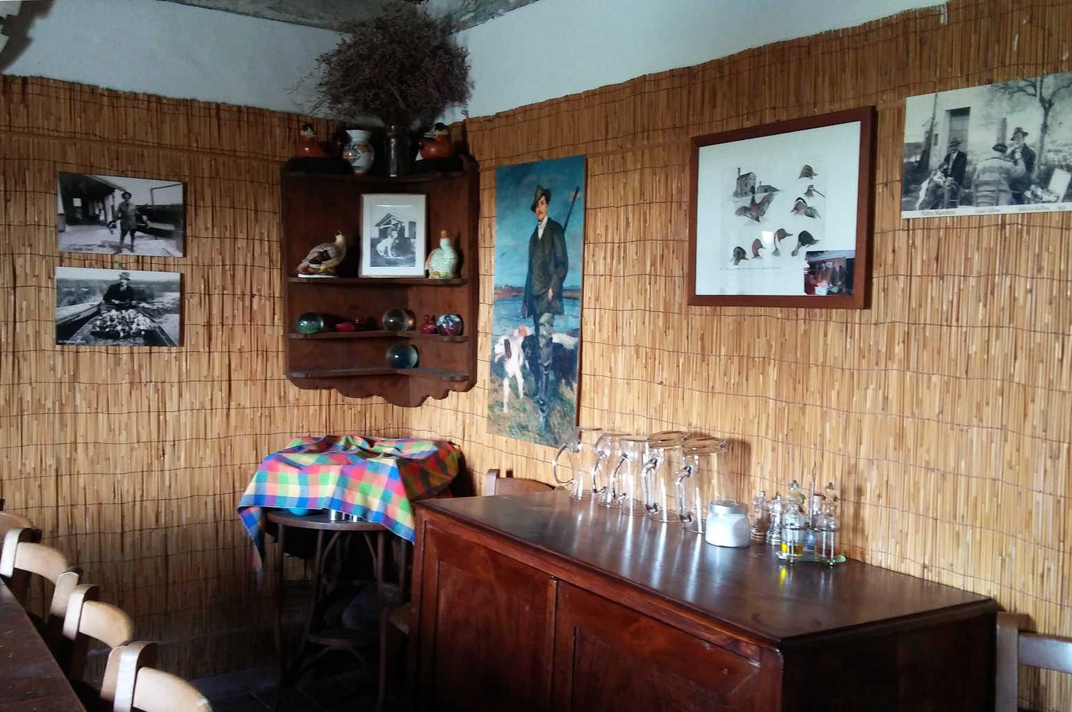 Sala interna del casone da pesca