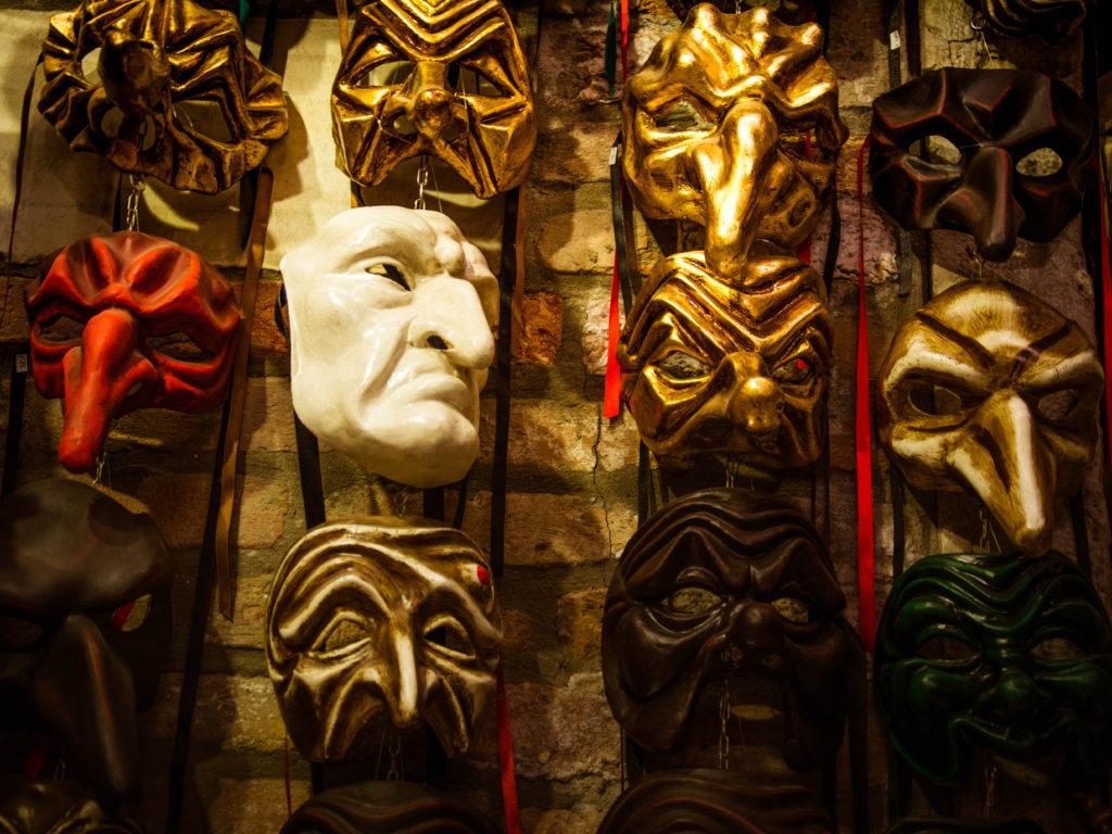 Maschere Carnevale Venezia. Commedia dell`arte