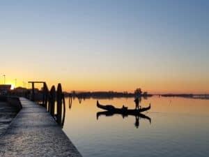 Cavallino : sonnenuntergang an der Lagune