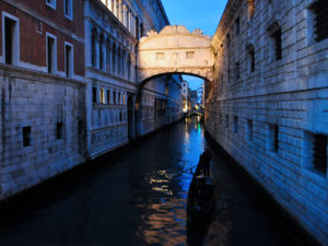 Venezia di notte. Ponte dei Sospiri